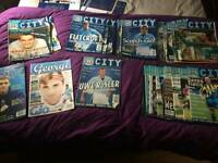 Manchester city magazines 1995 - 2000