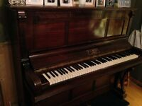Classic upright piano, F J Best London, seeking good home