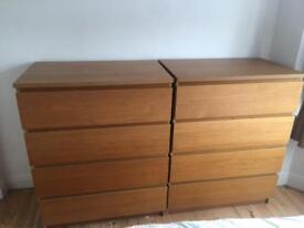 2 x Malm Ikea dressers - EACH £25