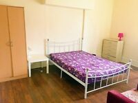 A clean large room is available in London NW10.