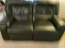 Real leather reclining sofas