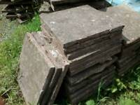 Reclaimed 18 x 18 paving slabs. (450mm x 450mm). Ideal for garden shed base or path