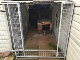 Dog/Pet Galvanised Cage With Dog Box Size 8ft x 4ft (can be dismantled)