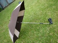 ABC design baby sun parasol umbrella for pram, stroller, pushchair, buggy in brown & cream