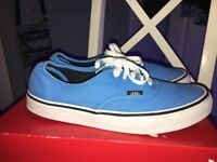 Blue and White VANS Trainers