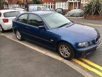 BMW 316ti Compact 2002 Blue 1.8 Petrol manual ULEZ Compliant