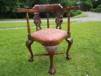 Beautiful Carved Corner Chair