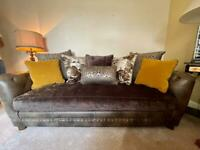 Alexander and James East large sofa and snuggler chair