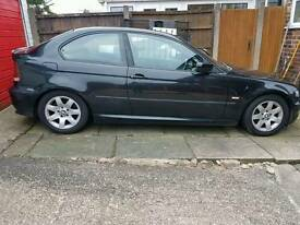 REDUCED MUST SELL bmw 318i compact black private reg