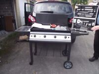 Gas BBQ, never used, complete with nearly full gas bottle and se tof luxury tools