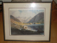 "LOVELY PRINT IN FRAME ""Loch Coruisk & the Cuillin - Isle of Skye"" by Vivienne Pooley"