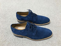 Russell & Bromley - Derby Lace Up Blue Suede (Men's UK 10)