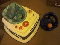 Baby walker and bath seat. Mama's and Papas walker.
