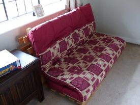 Futton Sofa Bed for sale, Folds Flat. Spits into 3 pieces for easy transportation. Exc. Condition.