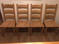 Solid oak chairs -reduced price!