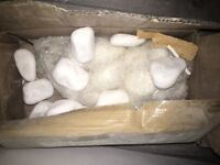 Fireplace pebbles brand new