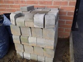 Kerb Stones (97) & Slate chippings (30 bags approx 2 tons)