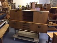 Retro G Plan Sideboard - Great Condition Vintage Danish Teak Chest of Drawers TV Unit Stand Cabinet