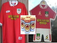 Wrexham 94/95 Home Football Shirt XL with Window Kit, 4 full cans of Wrexham Lager.