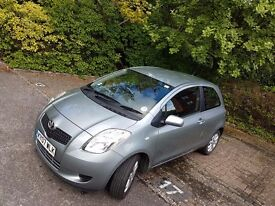 Toyota Yaris 1.3 VVT-i ZINC, 3 door, 2007 for sale, low mileage, only £2395