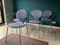 Retro Danish Stacking Chairs - Set of 6 - Mid Century Arne Jacobsen Style
