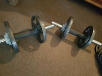 Dumbell weights four 2kg weights and eight 1 kg weights