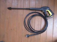 Heavy Duty Quick Release Karcher Pressure Washer Gun Hose & Dirtblaster Lance Kit