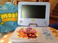 Moshi monsters DVD player - as new