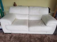 2 seater cream leather sofa - Sofology