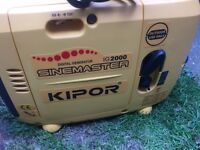 KIPOR IG2000P DIGITAL PURE SINE INVERTER SILENT GENERATOR USED 8 HOURS ONLY PLUS EXTRAS