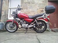 125 Yamaha YBR Custom 2012 plate - being sold with extras