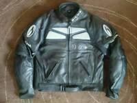 Richa Men's Leather Motorcycle Jacket size 44 worn twice
