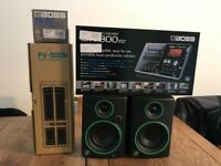 BOSS BR800 Multitrack Recorder, FS5U Footswitch, FV500H Volume Pedal, Mackie CR3 Multimedia Speakers
