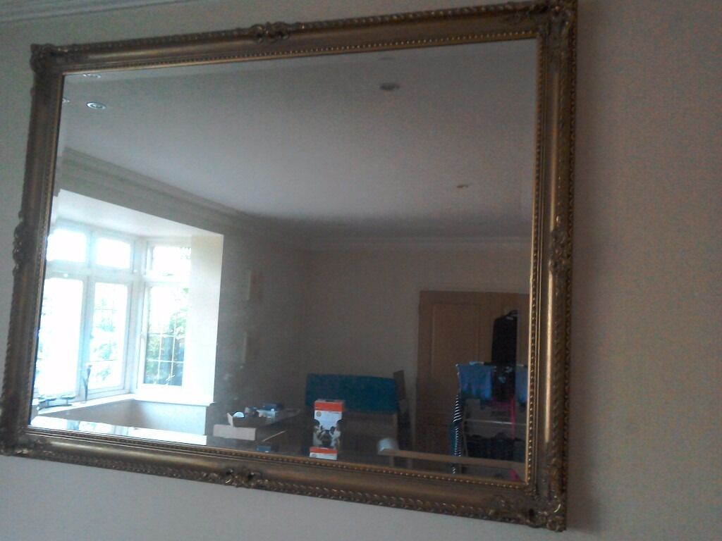 Large gold gilt mirror in rickmansworth hertfordshire gumtree large gold gilt mirror amipublicfo Images