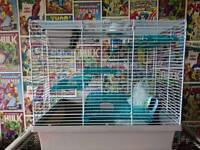 Hamster, gerbil cage.