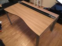 Walnut desk with steel legs
