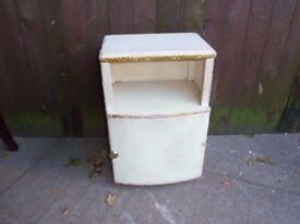 Wicker Bedroom side table with Cabinet Delivery Available £5
