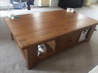 Next Solid oak Hartford coffee table
