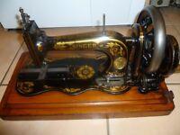 ANTIQUE Singer Sewing Machine 12k Fiddle Base 1884 Hand Crank