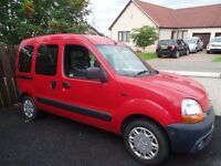 Renault Kangoo wheelchair accessible car/van, Low millage