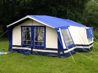 Sunncamp 400 se trailer tent camper with large storage box, detaching kitchen and accessories
