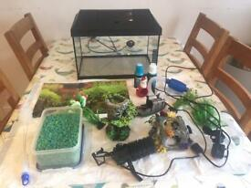 Aquael Tropical/fresh water fish tank set.
