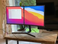 WORKING DAMAGED Samsung LC34H890WJUXEN 34 inch Curved VA LED Monitor USB type C