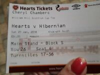 Hearts v hibs 22nd january williaim hill scottish cup seated in new stand