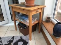 Pine coffee table and matching end tables