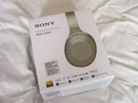 Sony MDR-1000X Wireless Noise cancelling Headphones Beige new