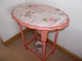 Occasional table. Pretty pink shabby chic. Bedroom/lounge. Gorgeous........