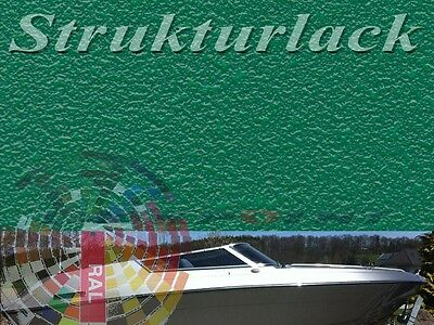1 L Set 2K Strukturlack Antirutschbelag RAL Wuschfarbe Boot Bootslack Deck Boden