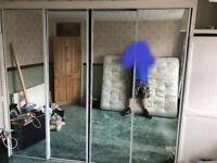 4 door Glass Roller Wardrobe