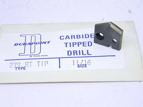 "NEW DURAPOINT CARBIDE DRILL BLADE 11/16"" (.6875"")"